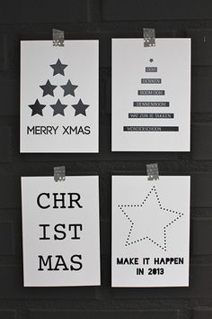 Black and white and nordic christmas - Magazín Noel Christmas, Modern Christmas, Winter Christmas, Christmas Crafts, Thanksgiving Holiday, Xmas Cards, Diy Cards, Karten Diy, Theme Noel