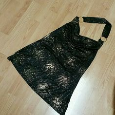 Sparkly Wet Seal slinky halter. Soft light weight, never worn. XL in juniors, closer to women's L Wet Seal Tops Blouses