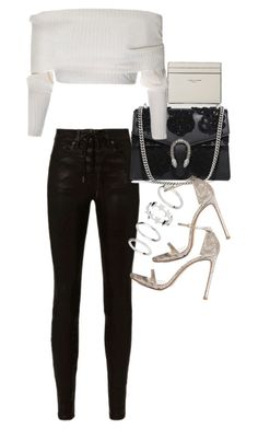 """Untitled #20867"" by florencia95 ❤ liked on Polyvore featuring Yves Saint Laurent, rag & bone, Gucci and Stuart Weitzman"