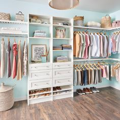 You can never have enough storage. Why not upgrade your master closet? Explore beautiful and organized professionally installed closets like this MasterSuite one. #CustomCloset #ClosetDesign #HomeOrganization Custom Closet, Closet Storage Systems, Closet Storage, Storage System, Storage Spaces, Home Organization, Declutter Your Home, Closet Maid, Closetmaid