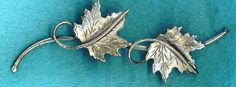 Vintage Beau Sterling BROOCH Pin Signed Maple by TheMaineCoonCat, $24.95 USE KITTYFOR10 & GET 10% OFF!
