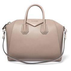 Givenchy Antigona medium leather bag (22 475 SEK) ❤ liked on Polyvore featuring bags, handbags, taupe, brown tote purse, tote purses, givenchy handbags, tote handbags and leather tote bags