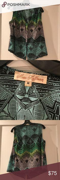 NWOT Mara Hoffman Blouse Super cool Mara Hoffman silk top. Very cool print! NWOT Mara Hoffman Tops Blouses