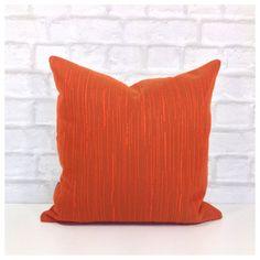 Vintage  Fabric Cushion Cover 16 x 16 Burnt Orange by Retro68