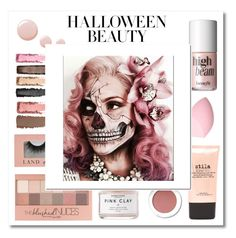 """""""Behind The Mask: Halloween Make-up"""" by julielehenka ❤ liked on Polyvore featuring beauty, Benefit, Stila, Maybelline, Topshop and halloweenmakeup"""