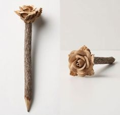~ hand-carved rose twig pencil from… Sculpture Art, Sculptures, Pencil Carving, Pencil Design, Crayon Art, Flower Making, Amazing Art, Awesome, Pencil Art