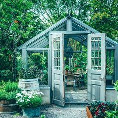 Jag får många frågor om mitt växthus! 🍃 Så jag tänker berätta lite hur vi gjort... Jag hade gått & drömt om ett länge & hade en bild i…