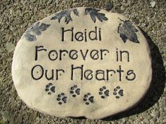 Indoor-outdoor decor for burial, grave, large Pet remembrance stone.