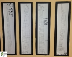 Our friends have been so interested in buildings and architecture lately! These pencil sketches are our friends' interpretations of the Empire State Building.  — Alphabet Academy North Kindergarten  http://thealphabetacademy.com  #reggio-inspired #buildings #architecture #pencil