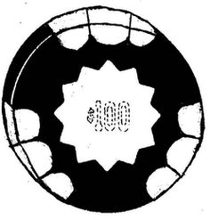 The mark consists of the design of a poker chip