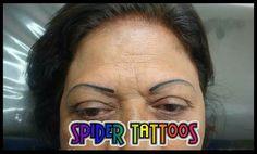 Eyebrow Tattoo by Spider #eyebrowtattoo