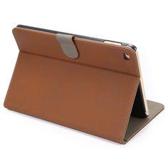 ENKAY PU Retro Matte With Card Slot & Bracket Smart Sleep Protection Cases For iPad Mini 4