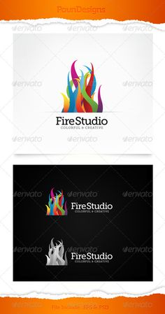 Fire Studio — Photoshop PSD #studio #colorful • Available here → https://graphicriver.net/item/fire-studio/3316798?ref=pxcr