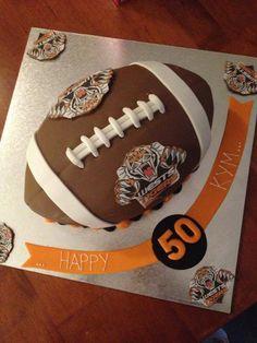 NRL Tigers cake. 50th Birthday. 50th Birthday, Birthday Cake, Wests Tigers, Tiger Cake, Happy 50th, Amazing Cakes, Cake Decorating, Bud, Party