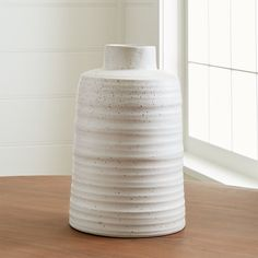 Holden White Ribbed Vase at Crate and Barrel Canada. Discover unique furniture and decor from across the globe to create a look you love. Crate And Barrel, Faux Flower Arrangements, Vase Arrangements, Centerpieces, Bedroom Light Fixtures, Bedroom Lighting, Bedroom Decor, Unique Furniture, Custom Furniture