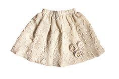 Summer beige skirt stone ivory girls designer cotton by maliposha, $38.80