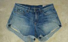 RAG & BONE Blue Jean Denim Shorts Cut Off fringe  Women's 27 | Clothing, Shoes & Accessories, Women's Clothing, Shorts | eBay!