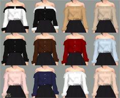sims 4 mods off shoulder top The Sims 4 Pc, Sims 4 Teen, Sims Four, Sims 4 Toddler, Sims 4 Mm, Marigold Sims 4, Vêtement Harris Tweed, Sims 4 Anime, Sims 4 Black Hair