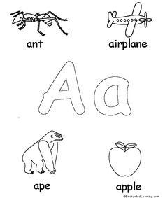 alphabetimales coloring sheets see more letters aa alternate enchantedlearningcom also a great website for other