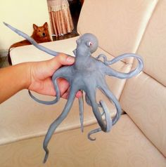 #octopus #coldporcelain #animals #sculture #art #gray #coatrack MadeBy anderson_tibaduiza