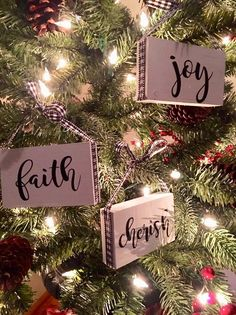 set of rustic christmas tree ornaments/Cherish/Joy/faith/wood Christmas tree Decor – The Best DIY Outdoor Christmas Decor Farmhouse Christmas Ornaments, Christmas Signs Wood, Diy Christmas Ornaments, Rustic Christmas, Christmas Tree Decorations, Christmas Tree Ornaments, White Christmas, Christmas Holidays, Christmas Bedroom