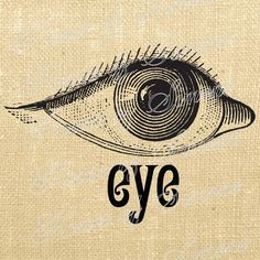 Eye Eyeball Optometry Antique Vintage by HouseofSimoneArtDept Optometry Humor, Optometry Office, Burlap Tote, Vision Eye, Medical Illustration, Altered Art, Vintage Men, This Or That Questions, Digital