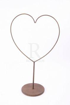 Metal Frame Heart Large @ rosefields.co.uk