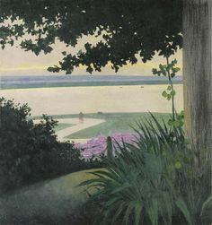 Honfleur et la Baie de Seine (1911), by Félix Vallotton (1865-1925).