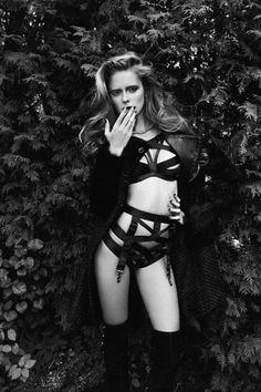 Masha and Charlotte's Lingerie Seduction in Richard Bernardin's Dress to Kill Magazine Love Issue 2013