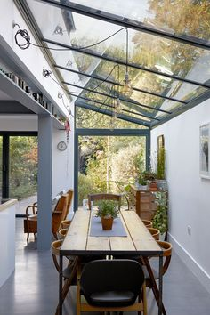Be inspired by these beautiful modern lighting ideas, as seen on the Livingetc House Tours Extension Designs, House Extension Design, Glass Roof Extension, Side Extension, Extension Ideas, Open Plan Kitchen Living Room, House Extensions, Garden Room Extensions, Architecture Design