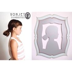 I loved making this gorgeous girl's silhouette! I feel so lucky to get to make such beautiful things :). #silhouette #vonjetsilhouettes