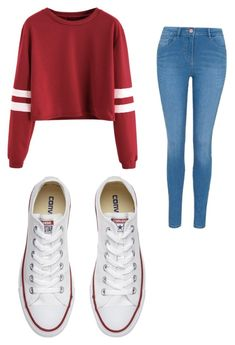 """Fun outfit"" by adrienne-mouhot on Polyvore featuring George and Converse"