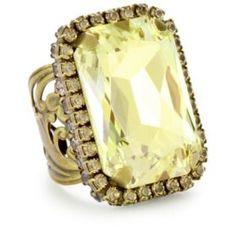 bold crystal ring - $100