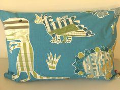 Jolly Jurassic Deluxe cushion - designer Harlequin by SugarandSpiceEllon on Etsy