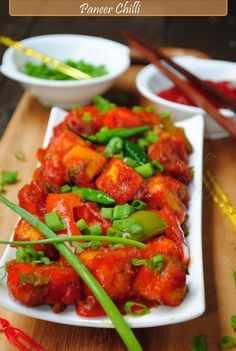 Chili Paneer - my most favorite #IndoChiness Dish. Highly popular in India ..