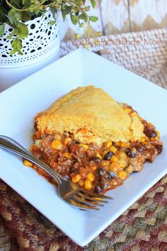 Mostly Homemade Mom: Mexican Pot Pie This can be done with all fresh ingredients very easily. Looks super yummy!