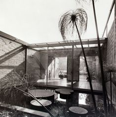Don Knorr mid century modern courtyard complete with pond