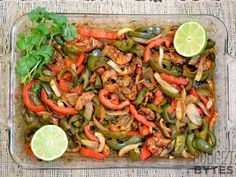This vegetable-heavy oven fajitas recipe will keep costs down and up your fiber intake. Source: Budget Bytes