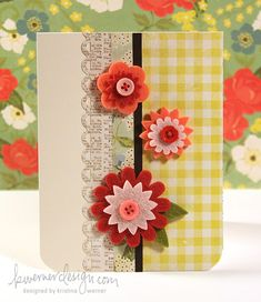 I love this week's, Make a Card Monday from Kristina Werner.  Such great colors and patterns. :-)