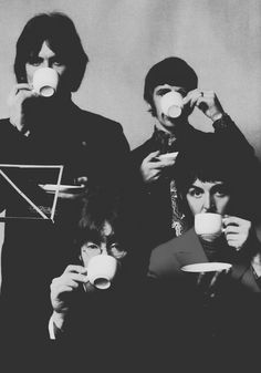 George....the proper broody way to look while having a cuppa.
