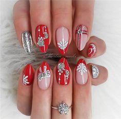 winter nails, winter nail colors, dark winter nails, winter nails winter nail designs winter nails colors, w. Red Sparkly Nails, Blue Glitter Nails, Gold Nails, Chrome Nails, Yellow Nails, Green Nails, Sexy Nail Art, Sexy Nails, Barbie Pink Nails