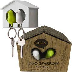 €10,95 Sparrow Keychain met Vogelhuisje