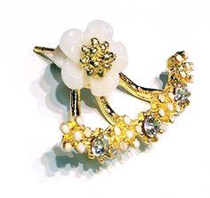Amazon   jewelry-smile ジュリーポーチ付き 花柄 フラワー ピアス 金属製シリコン キャッチ付き ゴールド   スタッド 通販