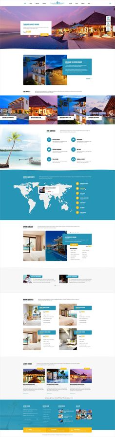 Leevio is a wonderful premium #Photoshop template for #webdev stunning #resort, hotel and travel agencies websites with 5 homepage layouts and 46 organized PSD pages download now➩ https://themeforest.net/item/leevio-resort-hotel-travel-psd-template/19276915?ref=Datasata