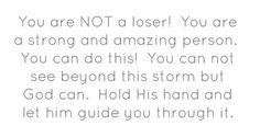 Hold God's hand.