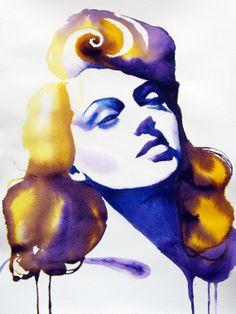 Lana Turner Giclee ART PRINT of Original by KimberlyGodfrey, £12.95