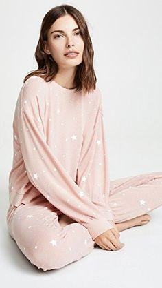 Z Supply Star Print Pull Over | SHOPBOP Pajamas Women, Women's Pajamas, Comfy Socks, Cute Slippers, China Fashion, Star Print, Pajama Set, Bell Sleeve Top, Pullover
