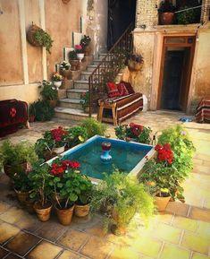 Persian Architecture, Architecture Design, Persian Decor, Porches, Iran Tourism, Persian Garden, Iran Travel, Garden Design, House Design