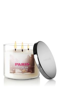 Paris Daydream candle from Bath & Body Works (aka, the man-candle, smells like hot guy cologne)