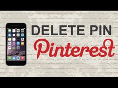 How to delete pin on Pinterest mobile app (Android / Iphone) - YouTube